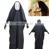 Hot sale movie Spirited Away the mystery no face male cosplay costumes adult anime costume with mask