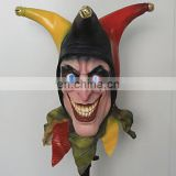 High Quanlity Fool Jester Evil Scary Latex Clown Mask Adult Halloween Mask & Hat for Party