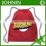 wholesale promotional fabric logo custom 210D polyester drawstring bag