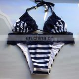 Blue Lady Lace Bow Bikini Swimwear