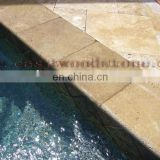 travertine pool coping