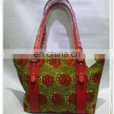 wholesales tote wax design lady handbag