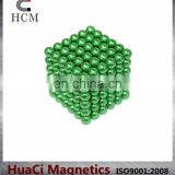 Colorful Neodymium 5mm Light Green magnetic ball toy
