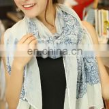2014 new printed voile scarf cotton voile scarf beach towel sandbeach scarf big size