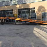Loading Ramp Brackets Anti Skid Thick Plateform Steel Ramps For Forklifts