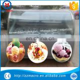 luxury italian gelato ice cream display freezers/ice cream show case