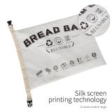 Wholesale Cotton bread bag reusable Zero waste Breathable Linen Bread Storage Bag