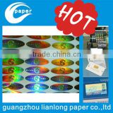 In 2015 China factory self adhesive holographic hot stamping foil label sticker factory in guangzhou