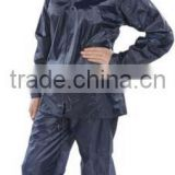 Nylon/Polyester Unisex waterproof rain coat with Zip-way and front flap pockets workwear overalls