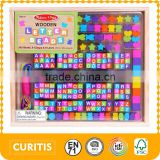 170 jigsaw puzzle cubes with letters72 beads in different shapes colourful strings puzzle game available letters in puzzle box