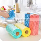blue stripe & white stripe cleaning microfiber cloth /rags/clean wipe cloth 50pcs/roll