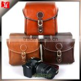 New design professional leather dslr camera bag DSLR SLR Digital Sling Camera Case Shoulder Bag