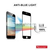 Pavoscreen Full cover mobile phone anti blue light tempered glass screen protector for iphone 6 / 6s mobile accessories