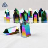 Natural rock rainbow aura quartz point healing crystal stone                                                                         Quality Choice