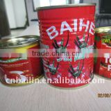 flavor thick sauce,2.2kg tinned tomato paste 24-26% fresh red good taste canned tomato paste for supermarket,caters,stores