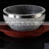 Granite portable stone bowl with side marble cookware                                                                         Quality Choice
