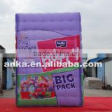 Giant air type model inflatable purple cuboid shape box