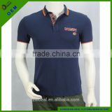 100% cotton fit style leather patch customer logo man polo t-shirt,design promotional polo shirt