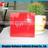 float glass Red Backing Glass/paint glass