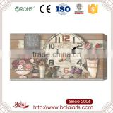 New Arrived roses and tulips imitative wood pattern canvas wall art sets