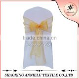 Beautiful cheap yellow snow organza chair sash