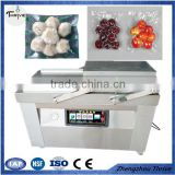 New arrival model reliable double chamber hardware food Vacuum Packing machine/horizontal type out vacuum pack machine