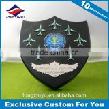 Wholesale cheap wooden sign metal plaque shield awards trophy