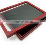 wholesale jewelry display tray with clear lid (Accept Custom Design And Print Your Logo)