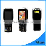 Handheld pda with printer , 3G Android payment ticket printing android tablet with barcode scanner PDA3505