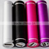 Hot on sale high quality metal cylinder mini battery pack smart mobile power bank manual