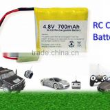 Rc Car Battery Factory Price/NiCD Battery Pack 4.8V 700 mAh NiCd Battery pack for RC Car/Custom Shape Rc Car Battery