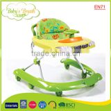 BW-17B EN71 certificate popular car walker 6 rubber wheel baby walker with automatic brake