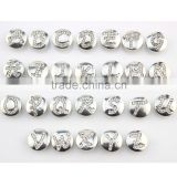 12mm Alloy With Rhinestone Alphabet Snap Button Fit Ginger Snap Jewelry