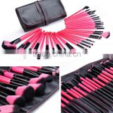 32 Piece Professional Personalized Brush Pencil Lip Liner Super Soft Makeup Brush Set With Holder Bag SV009568