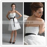 2013 Lastest Designer Popular Sweetheart Lace Black Belt Bridesmaid Dress Party Dress MLB-223