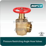 FM approved fire angle hose pressure reducing valve
