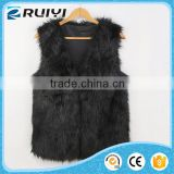 man made black rabbit fur vest kids