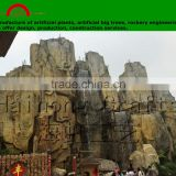GRC rockery engineering for theme park/Artificial stone for Aquarium/ Outdoor artificial plants for warter park