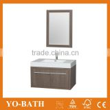 36 inch gray oak modern wall mounted bathroom vanity cabinet with solid acrylic basin