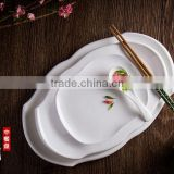 Porcelain dinner white oval plate and dish for wedding