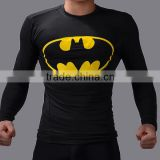 hot sell promotional brand new design custom-made superhero shirt compression quick drying sports clothing for men
