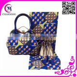 Wax Printed Set Design WBS-0014 beautiful italian shoes and bags for party /wedding Dress