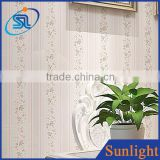 Simple striped wallpaper non-woven wallpaper TV backdrop beauty flower wallpaper