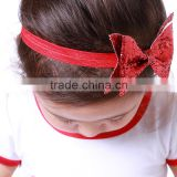 Top Baby Girls Hair Bands Baby Girl's Red Headbands Hairband Ribbon Hair Bow Satin Children's Hairbands