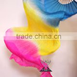Silk Chinese Fan Dance Fans , Belly Dance Silk Fan , Hand Fans for Dance                                                                         Quality Choice