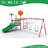 outdoor galvanized three seat swing set