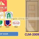 THREE PANEL HIGH QUALITY LOW PRICE MORE NEW DESIGNs INTERIOR WOODEN /MDF (glass) PVC DOOR
