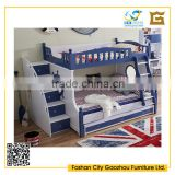 wooden double decker bed for kids bunk bed with drawers bedroom furniture