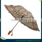 Auto Open Children Straight Umbrella with Crooked Handle in Customized Design or Logo XD-CU050