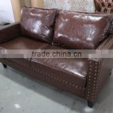 retro leather furniture/ vintage leather chesterfield sofa